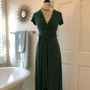 Michael Kors Green Maxi  Dress
